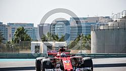 Test F1 Abu Dhabi 2018 Kubica, vettel, Le Clerc